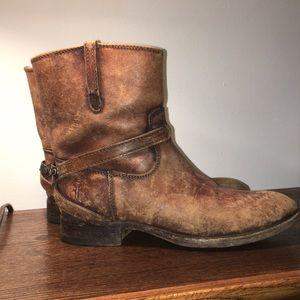 Women's Frye boots.
